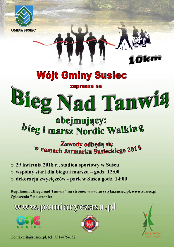 Bieg i Marsz Nordic Walking nad Tanwią - 29.04.2018 Susiec @ Susiec